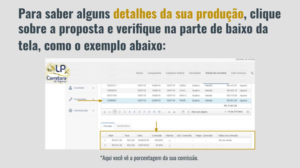 4. Como consultar propostas no relatório de produção (3)