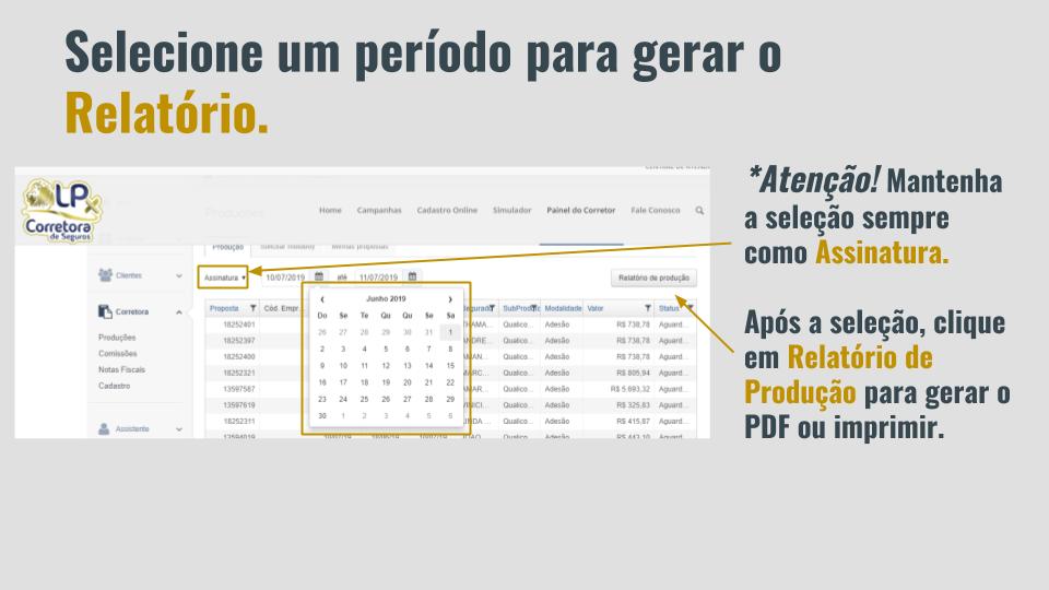 4. Como consultar propostas no relatório de produção (4)