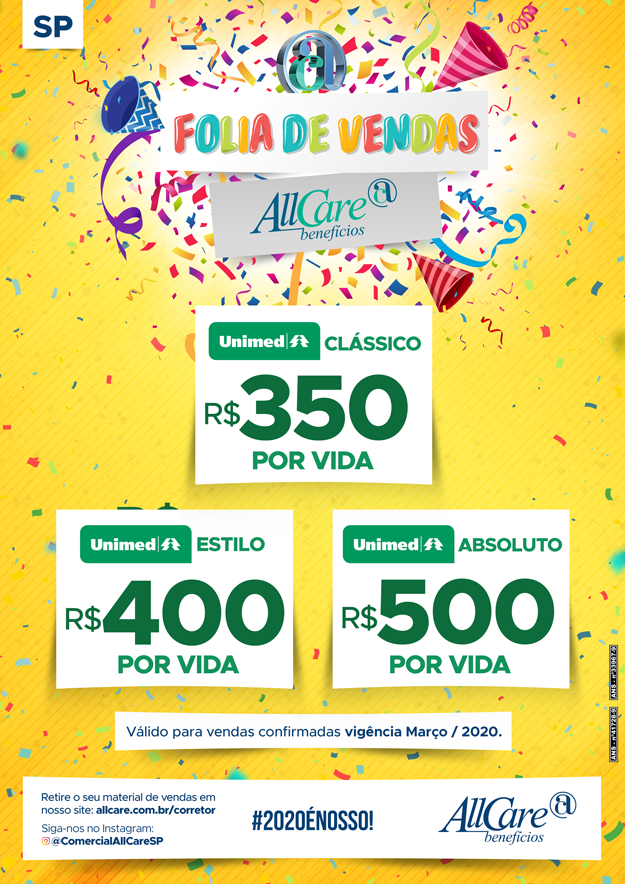 Folia de Vendas AllCare - Unimed