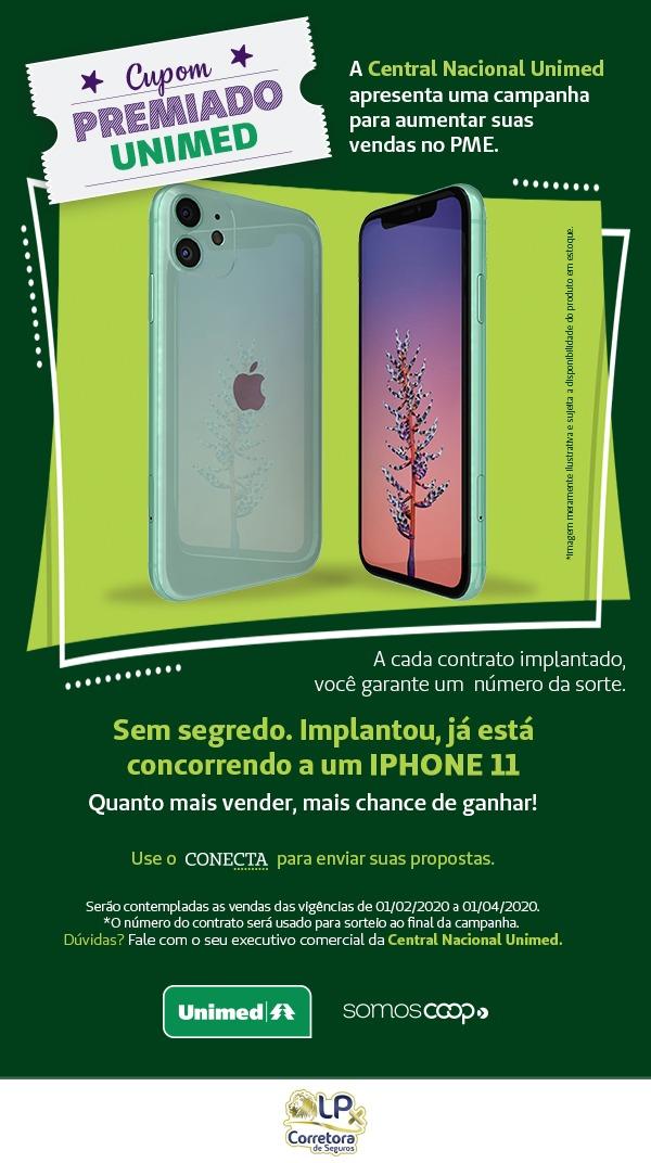 Ganhe um Iphone 11 com a Unimed